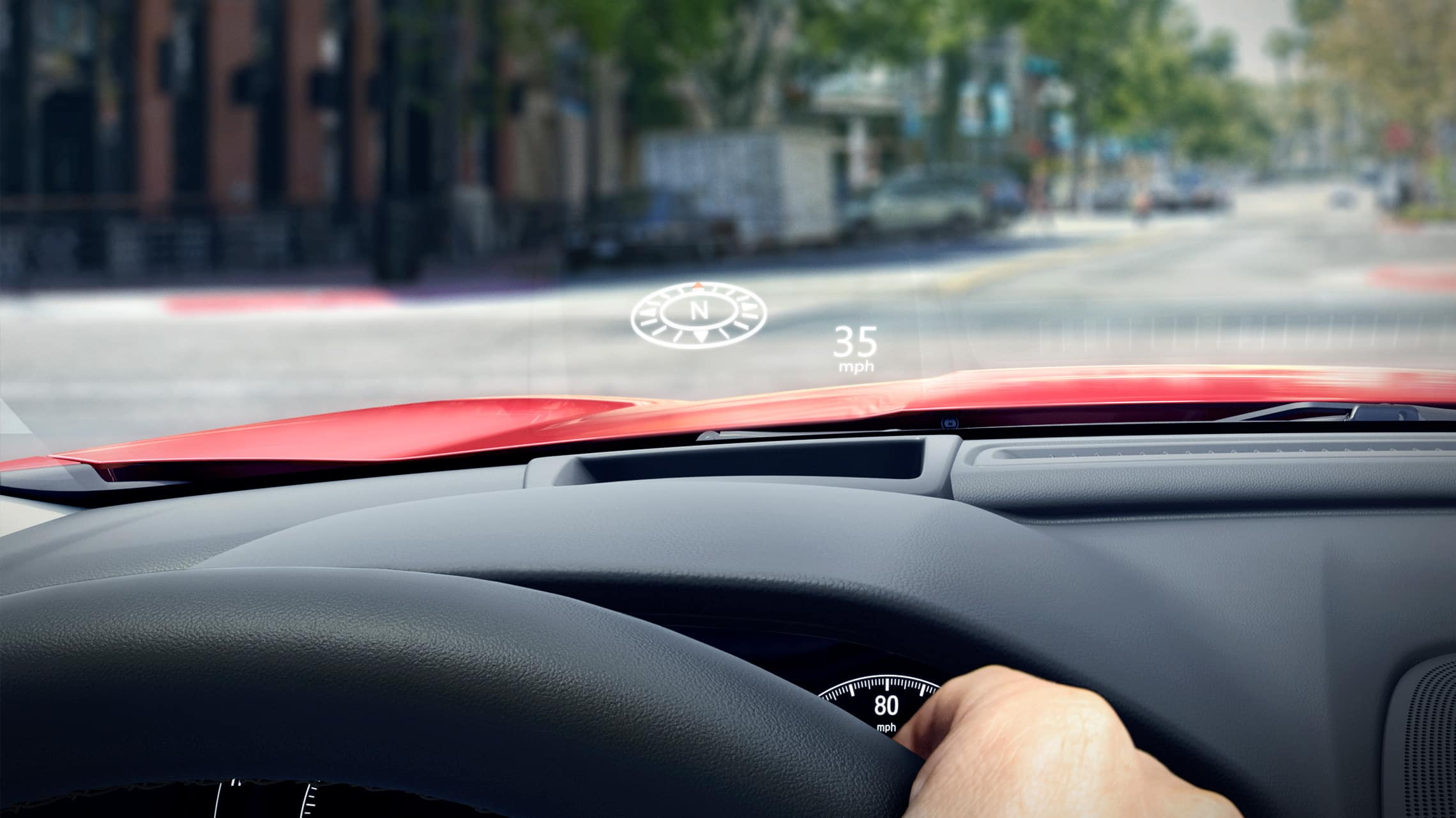 Head-Up Display detail in the 2020 Honda Accord Touring 2.0T.